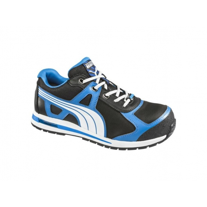 Puma Safety AERIAL LOW 643020 Mens Composite Toe Safety Shoes Black/Blue