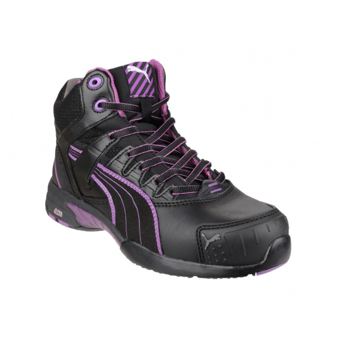 Puma Safety STEPPER MID Ladies Leather Safety Shoe Black ...