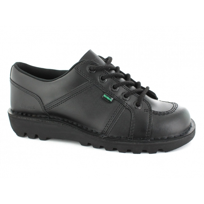 Kickers KICK LO TOE Mens Leather Shoes Black