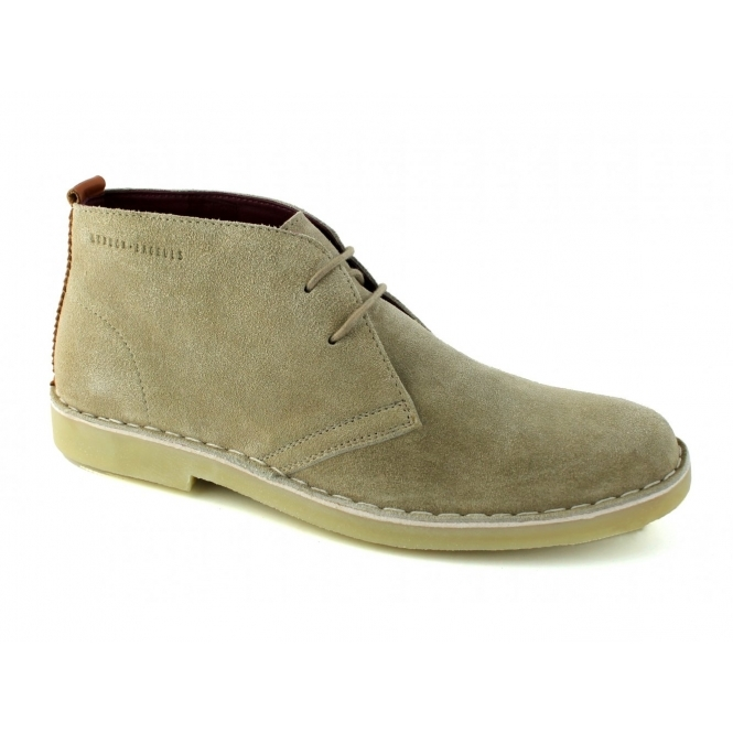 London Brogues CAXTON Mens Suede Desert Boots Sand