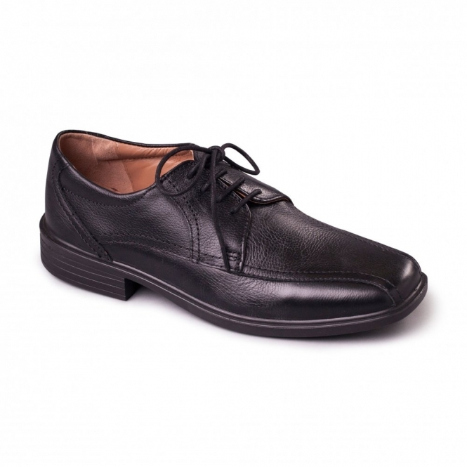 Padders ASTON Mens Leather Lace Wide Shoes Black