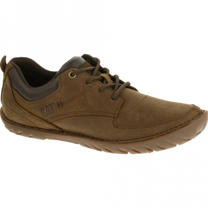 Cat ® ABILENE Mens Leather Lace-Up Shoes Brown Sugar