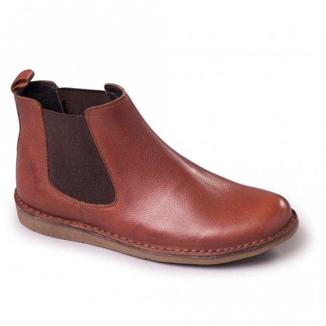 Padders JEZ Mens Leather Gusset Wide (G) Dealer Boots Tan