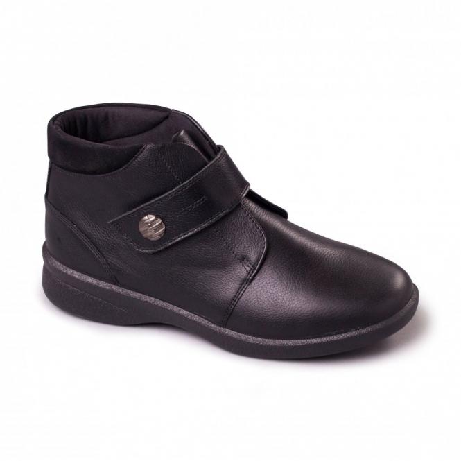 Padders REJOICE Ladies Leather EEE/EEEE Extra/Super Wide Boots Black