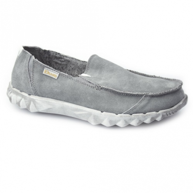 Hey Dude FARTY Mens Suede Slip-On Mule Shoes Fume