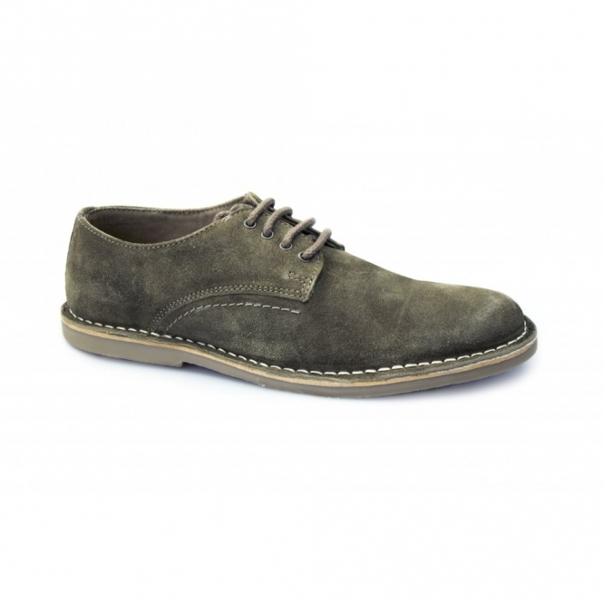 Red Tape MOJAVE Mens Suede Lace-Up Padded Shoes Stone