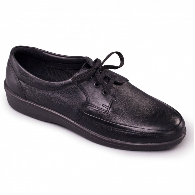 Padders DASH Mens Leather Lace-Up Shoes Black