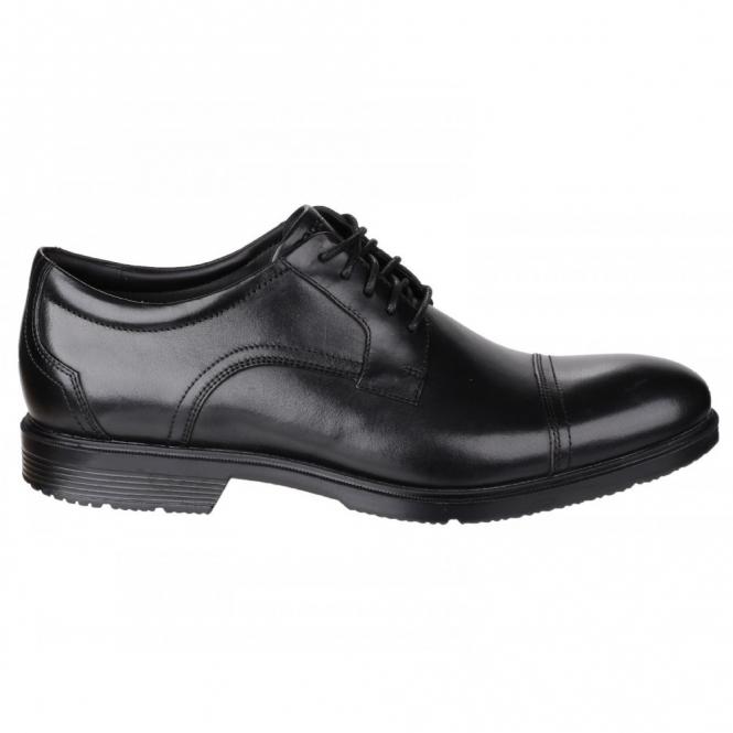 Rockport CITY SMART CAP TOE Mens Leather Lace Shoes Black