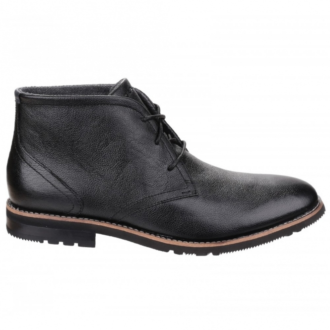 Rockport LEDGE HILL 2 Mens Lace Leather Chukka Boots Black