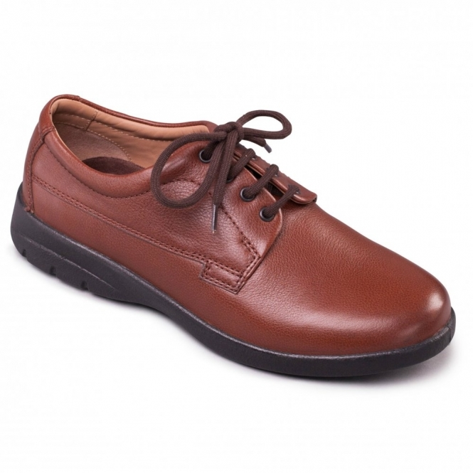 Padders LUNAR Mens Lace-Up Wide/ Extra Wide G/H Shoes Tan