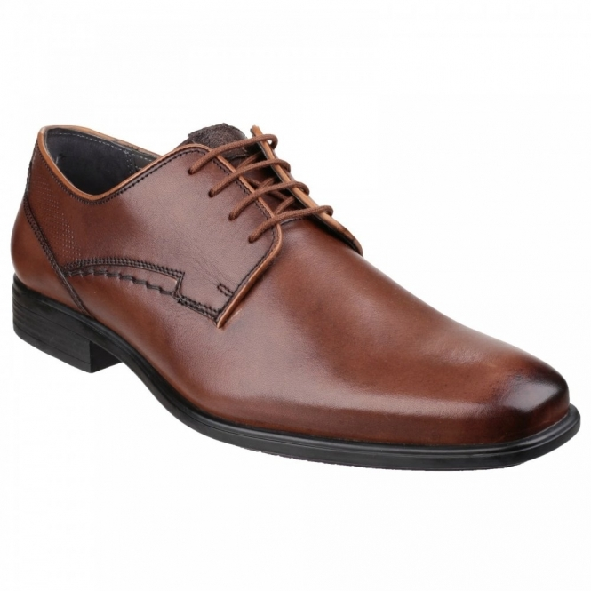 Hush Puppies KANE MADDOW Mens Leather Derby Shoes Brown