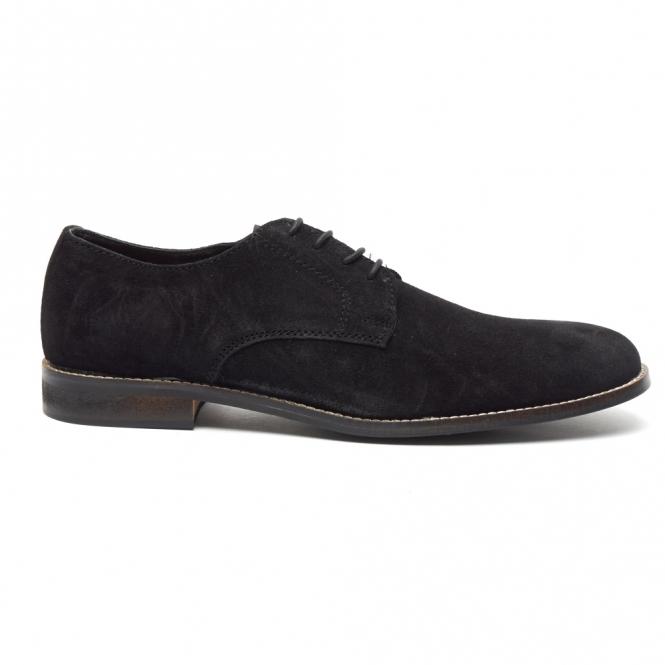 Lucini PRESTON Mens Suede Lace Up Desert Shoes Black