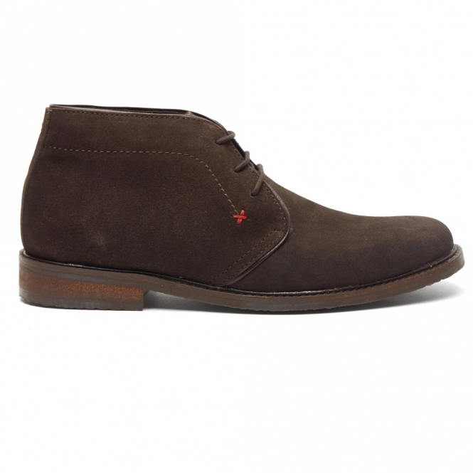 Lucini OSBORNE Mens Suede Lace Up Chukka Boots Brown/Coffee