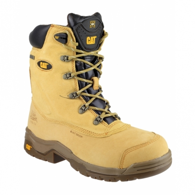 Cat ® SUPREMACY Mens SB W/P HRO Leather Safety Boots Honey