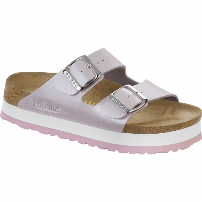 Papillio By Birkenstock ARIZONA Ladies Platform Sandals Graceful Rosa
