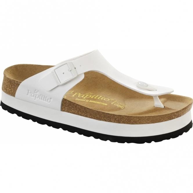Papillio By Birkenstock GIZEH Ladies Platform Toe Post Sandals White