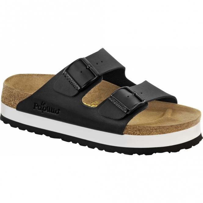 Papillio By Birkenstock ARIZONA Ladies Platform Buckle Sandals Black