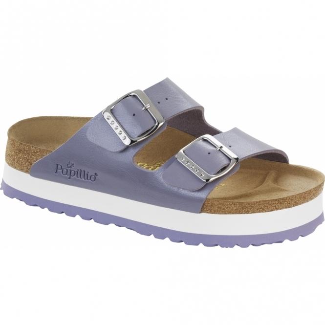 Papillio By Birkenstock ARIZONA Ladies Platform Buckle Sandals Lavender