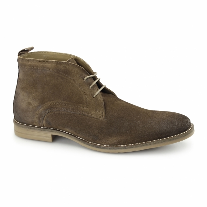Base London DORE Mens Dirty Suede Leather Desert Boots Tabacco
