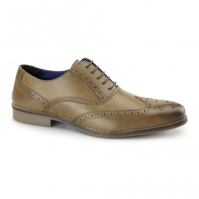 Red Tape KILDARE Mens Leather Oxford Brogues Tan