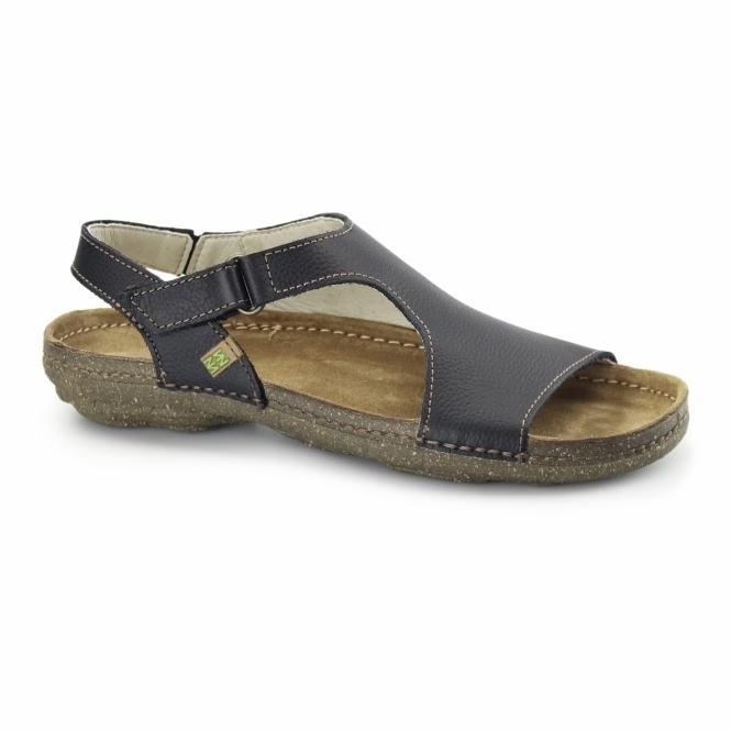 El Naturalista N309 Ladies Leather Slingback Sandals Black
