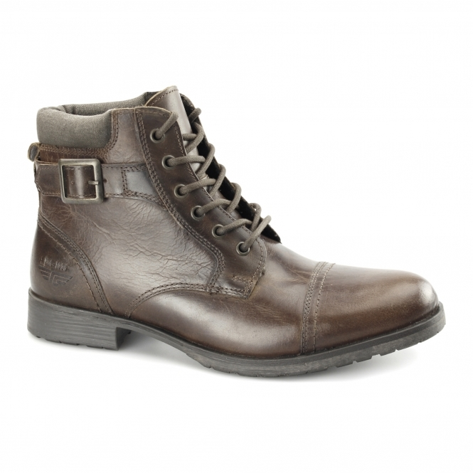 Red Tape CROXDALE Mens Leather Worker Boots Tan