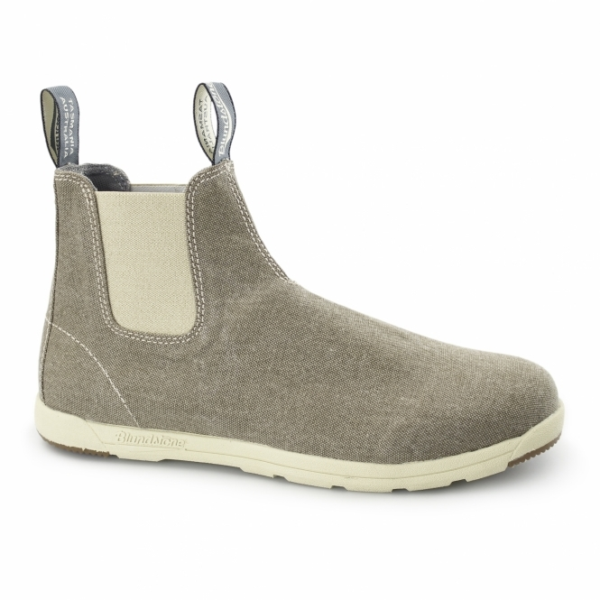 Blundstone 1426 Mens Canvas Chelsea Boots Khaki Wash