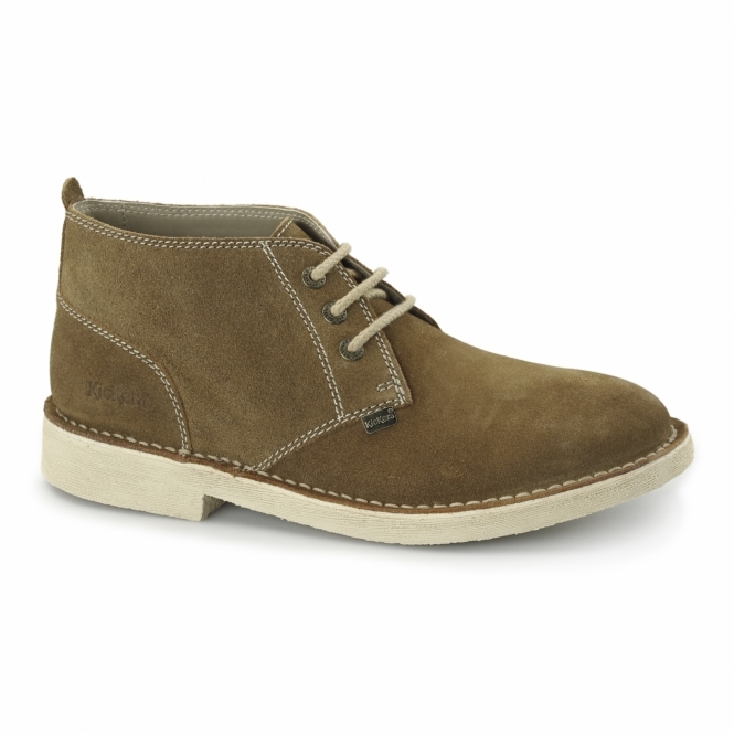 Kickers LEGENDARY Mens Suede Desert Boots Tan/Nat