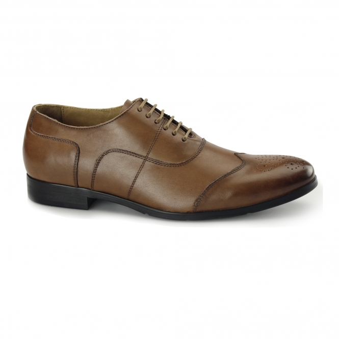 Azor MESSINA 2 Mens Leather Oxford Brogues Tan