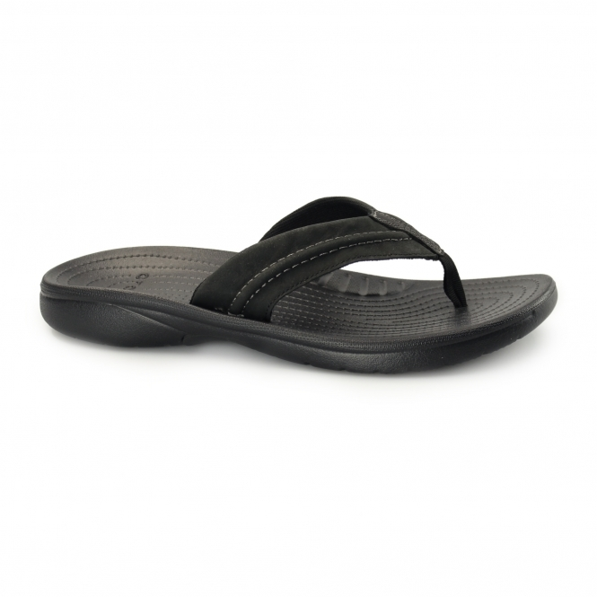 Crocs YUKON MESA FLIP Mens Flip Flops Black