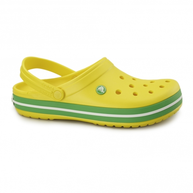 Crocs CROCBAND Unisex Croslite Clogs Lemon/Grass Green