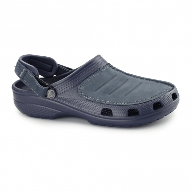 Crocs YUKON MESA Mens Croslite/Leather Clogs Navy/Navy