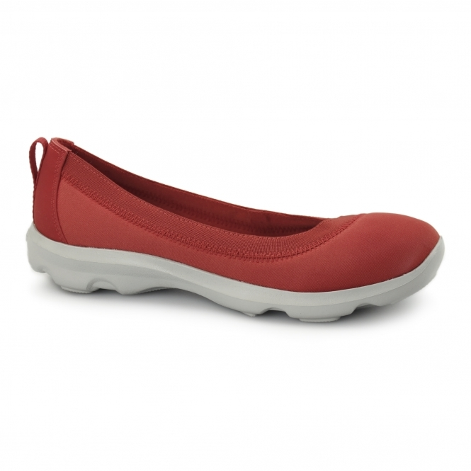 Crocs BUSY DAY STRETCH FLAT Ladies Walking Trainers Flame