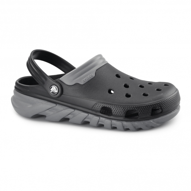 Crocs DUET MAX CLOG Mens Croslite Clogs Black/Charcoal