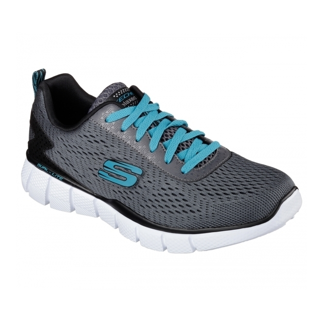 Skechers EQUALIZER - SETTLE THE SCORE Mens Trainers Charcoal/Black