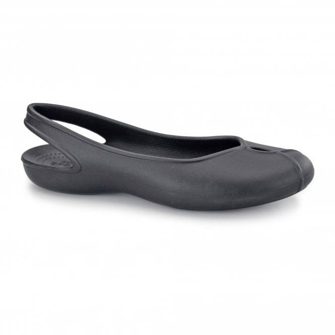 Crocs OLIVIA II Ladies Croslite Slingback Shoes Black