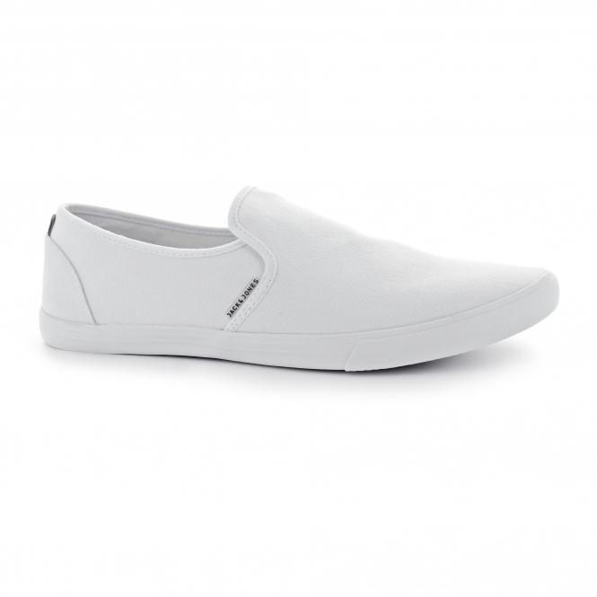 Jack & Jones SPIDER Mens Canvas Loafers Bright White