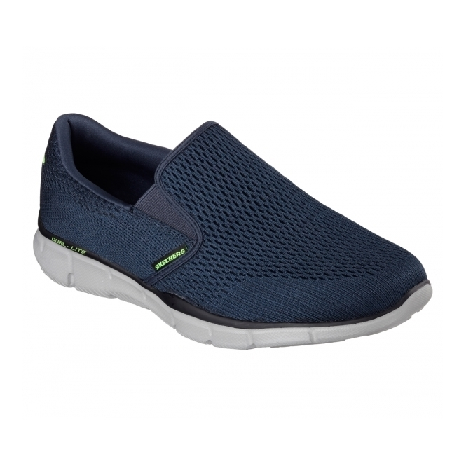Skechers EQUALIZER-DOUBLE PAY Mens Walking Trainers Navy