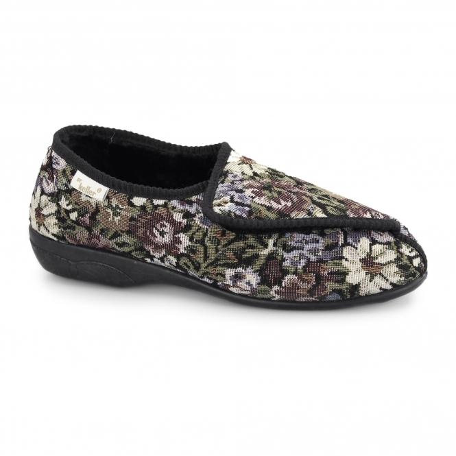 Dr Keller EILEEN Ladies Touch Fasten Floral Slippers Multi