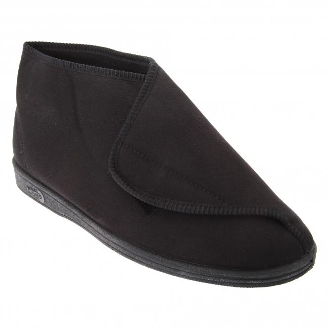 Comfylux KEN Mens Nylon Velcro Slippers Black