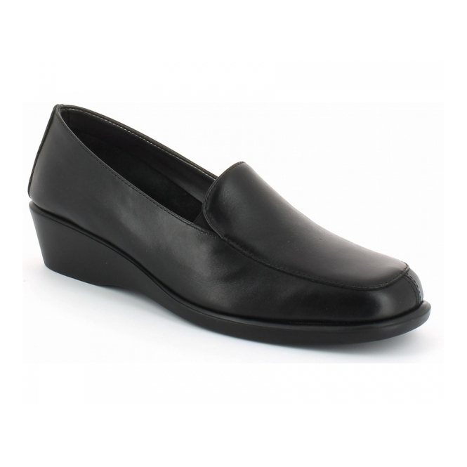 Aerosoles FOUR WILLIAM Ladies Leather Slip On Loafers Black