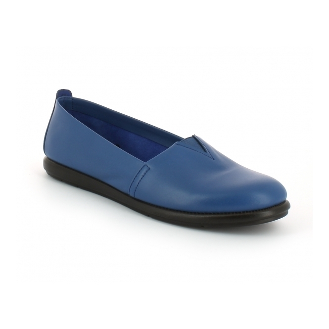 Aerosoles CATALAN Ladies Leather Casual Espadrilles Royal Blue