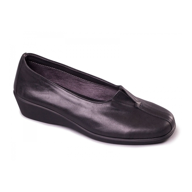 Aerosoles FOUR SOME Ladies Leather Heeled Shoes Black
