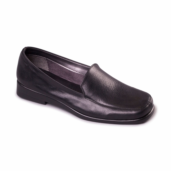 Aerosoles BERLIN Ladies Leather Loafer Black