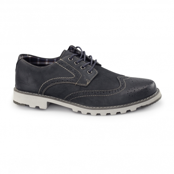 Chatham CHASE Mens Nubuck Derby Brogues Navy