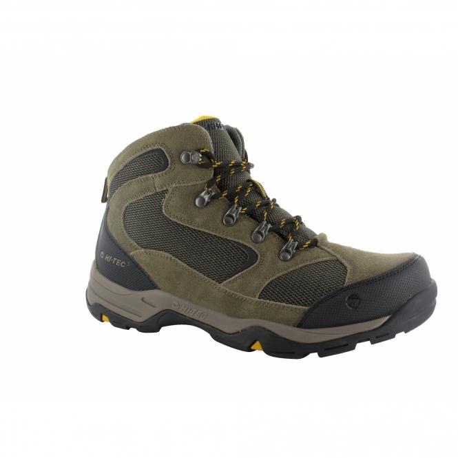 Hi-Tec STORM WP Mens Hiking Boots Brown/Taupe/Gold