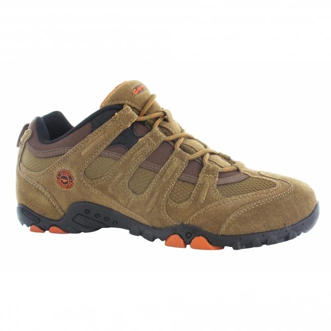 Hi-Tec QUADRA CLASSIC Mens Walking Shoes Brown/Orange