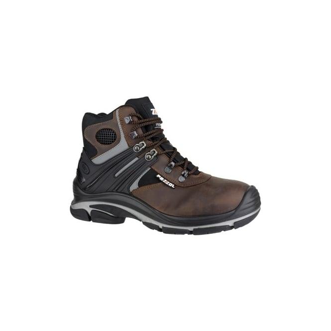 Pezzol TORNADO HI 566 Mens S3 SRC Safety Boots Brown