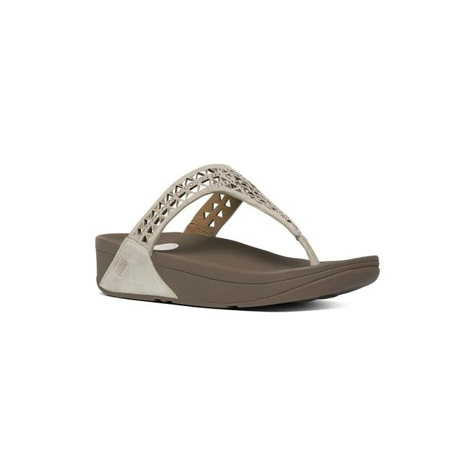 FitFlop™ CARMEL™ Ladies Suede Toe Post Sandals Rose Gold