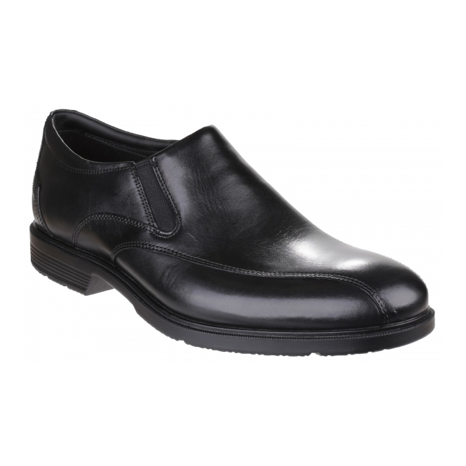 Rockport CITY SMART BIKE TOE Mens Leather Slip On Shoes Black